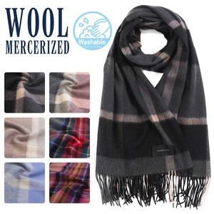 Cashmere Wool Checkered Stole