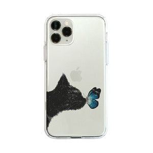 iPhone Case soft Clear Case cat Butterfly