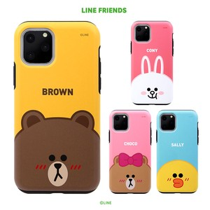 iPhone 11 Pro/11 Pro Max/11 ケース LINE FRIENDS DUAL GUARD FACE