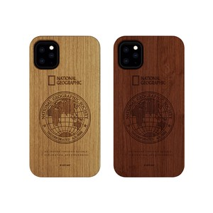 iPhone 11 Pro / 11 Pro Max / 11 ケース National Geographic Global Seal Nature Wood