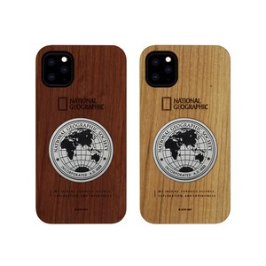 iPhone 11 Pro / 11 Pro Max / 11 ケース National Geographic Metal-Deco Wood Case