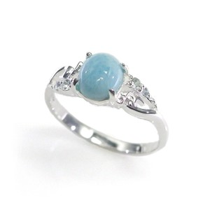 Silver 925 Ring Stone Ring Dominica Aquamarine