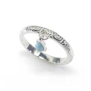 Silver 925 Ring Stone Ring Dominica Oval Charm