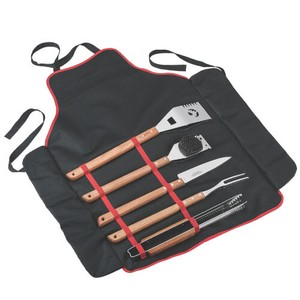 6 Pcs Barbecue Set Mick Storage Apron Attached