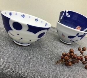 Everyday Bowl Parent And Child Zodiac Mouse Japanese Rice Bowl