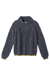Hand Knitting Neck Banana Nep Pullover
