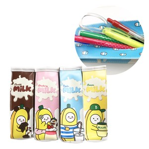Korea Banana Milk Pack Pencil Case Banana Milk Carton Stationery Stationery
