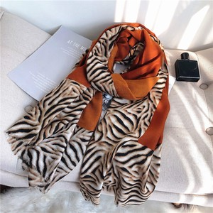Stole Scarf Large Format Unisex Animal Plain ZEBRA 3 Colors