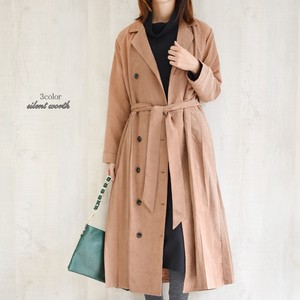 A/W Belt Trench Pleats Switching Long One-piece Dress