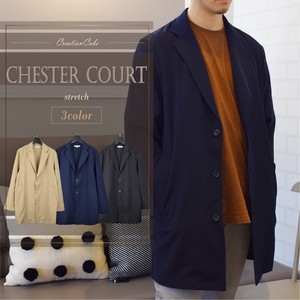 Rayon Stretch Chesterfield Coat