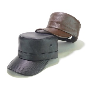 Leather Military Cap Young Hats & Cap