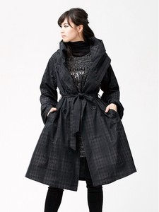 Double Jacquard Chambray 4WAY Shawl Coat