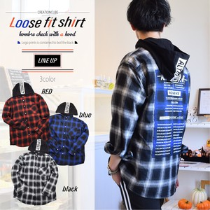 A/W Checkered Bag Print Fit Shirt