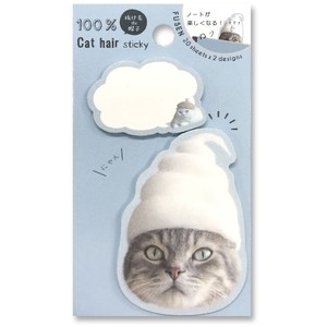 Cat hair Sticky Note Cat cat