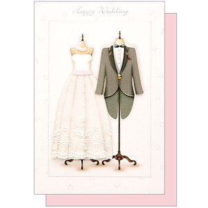 Hand Maid Wedding Card Marriage Dress