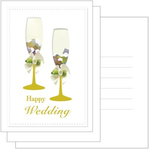 Hand Maid Wedding Card Marriage Celebration Glass