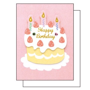 Hand Maid Birthday MIN CARD Birthday Cake