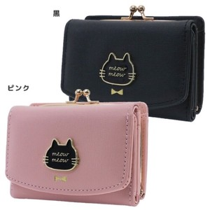 Wallet Ladies Trifold Wallet Black cat Face