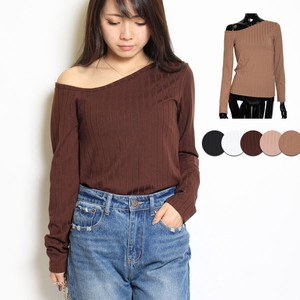 Top Single-shoulder Teleko Top Neck Long Sleeve