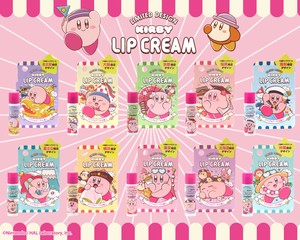 Kirby of the Stars Here Design Lip Cream Peach Japan