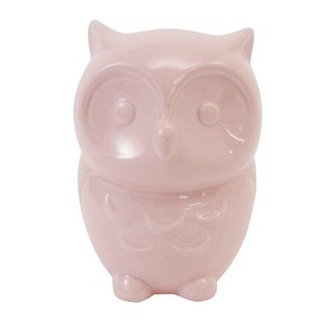 Owl Piggy Bank Pink