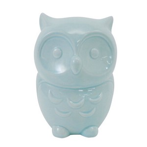 Owl Piggy Bank Blue