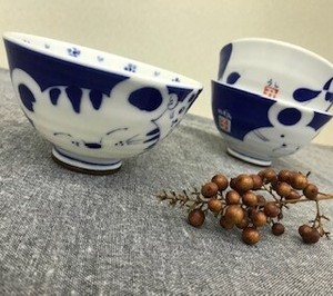 Everyday Bowl Parent And Child Zodiac Japanese Rice Bowl