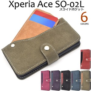 Smartphone Case Xperia Ride Card Pocket Notebook Type Case