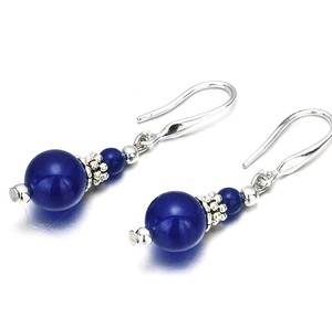 Lapis 10mm Design Pierced Earring