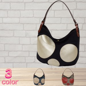 Shoulder Bag Canvas Cow Leather 3 Colors