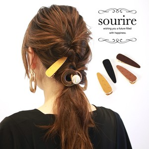 Ostrich Synthetic Leather Leather Hair Clip Easy Arrangement