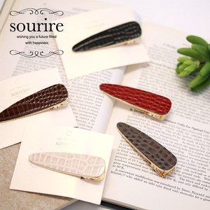 Crocodile Synthetic Leather Leather Hair Clip Easy Arrangement