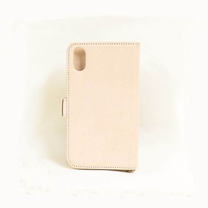 Cow Leather iPhone Case Notebook Type Smartphone Case Men's Ladies Natural