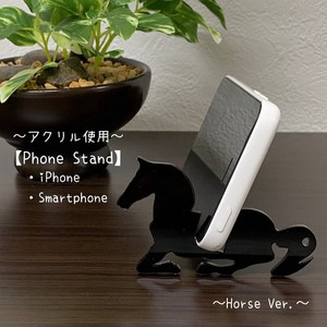 Black Smartphone Stand Key Ring Acrylic Use