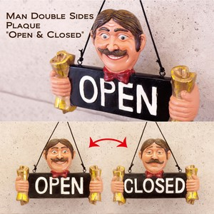 Man Double Sides Plaque[Open & Closed]両面プレート