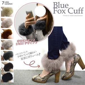 Fox Fur Cuffs Boots Cover Real Fur Lucky Bag