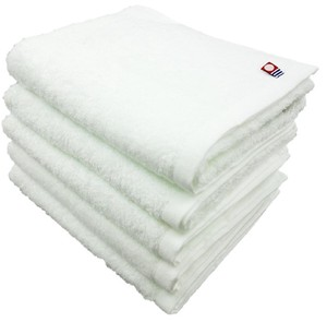 IMABARI TOWEL Brand Face Towel 5 Pcs Set Plain White Series