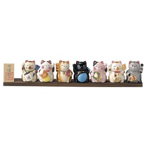Good Luck Seven Lucky Cats Beckoning cat
