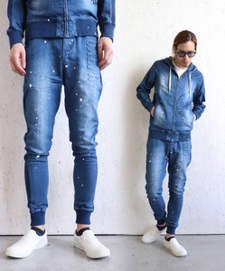 Denim Emboss Pants Last Processing