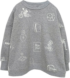 Repeating Pattern Print Pullover Kids Toddler Boys Girl A/W