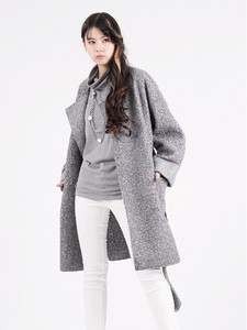 Fake Wool Ensemble Coat Coat Pullover