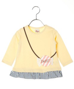 Admission Preparation Frill Attached Pouch T-shirt Long T-shirt Long Sleeve [2019NewItem]
