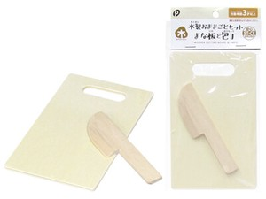 Happy Toy Wooden Play-mom Set Chopping Board Japanese Cooking Knife