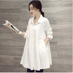 Ladies Shirt Long Sleeve Shirt Long Shirt Blouse Casual Leisurely