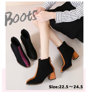 A/W Short Boots Suede Heel Boots Beautiful Legs