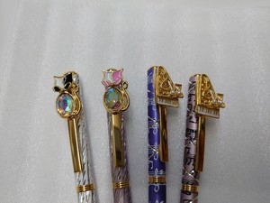 New Pattern Cat Grand Piano Crystal Ballpoint Pen Music Violin