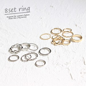 Set Ring 8 Pcs Set Ring Chain Ring Accessory Set Ring