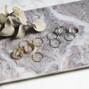 Set Ring 5-item Set Ring Round Metal Ring