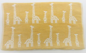 Gauze Elephant Fan Face Towel Yellow