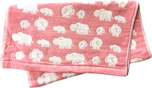 Gauze Elephant Fan Face Towel Pink